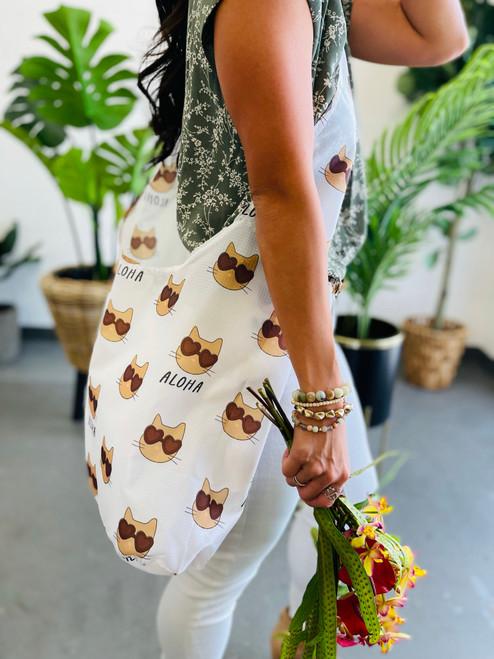 Crossbody Bag: Feline Fine
