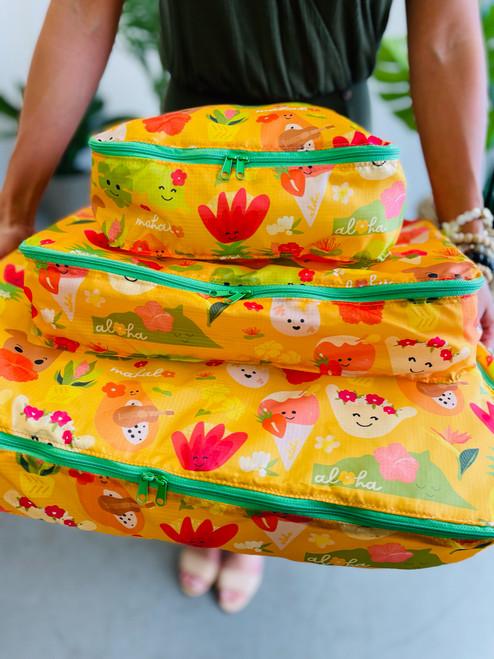 Packing Cube (Set of 3): Aloha Bloomies