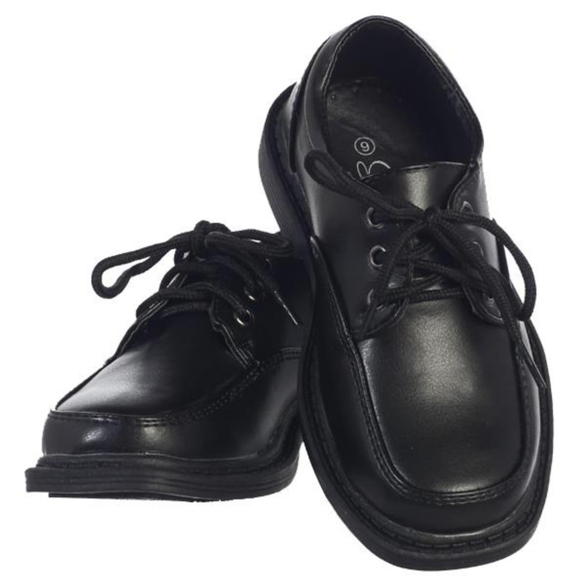 Boys Black Lace-up Formal Shoes