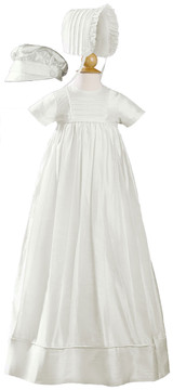 Silk Dupioni Christening-Baptism Heirloom Gown, Unisex