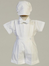 Boys White Cotton Oxford Christening Outfit (Blake)