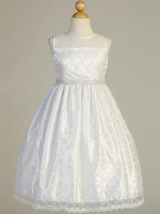 Girls White Lace Communion Dress (SP161)