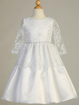 Girls-White-Embroidered-Lace-Tulle-Communion-Dress-SP165