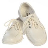 Boys Ivory Lace-up Formal Shoes (David-Ivory)