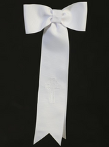 Grosgrain Ribbon Communion Arm Band with Embroidered Celtic Cross (AB-3