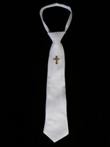 Boys-White-Zipper-Tie-Gold-Cross-EM6
