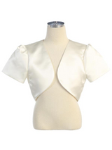 Short-Sleeve-Satin-Bolero-9303-Ivory