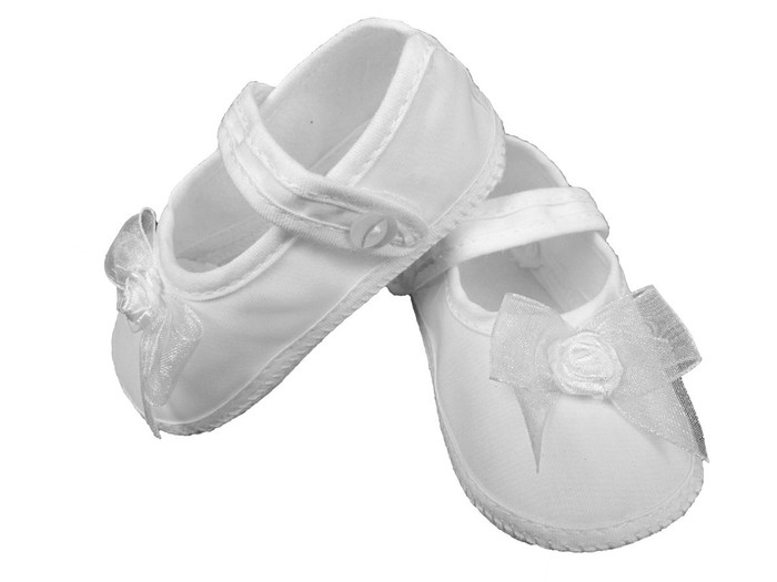 Girls Organza Shoe with Bow
