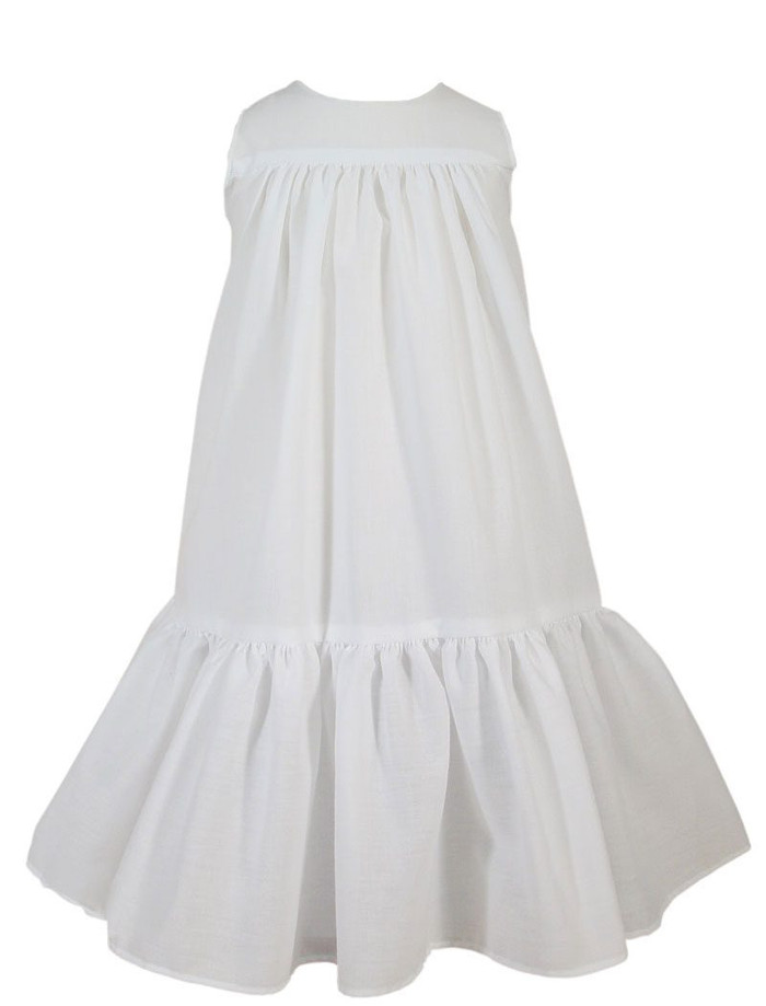Polycotton Christening Slip with Ruffle