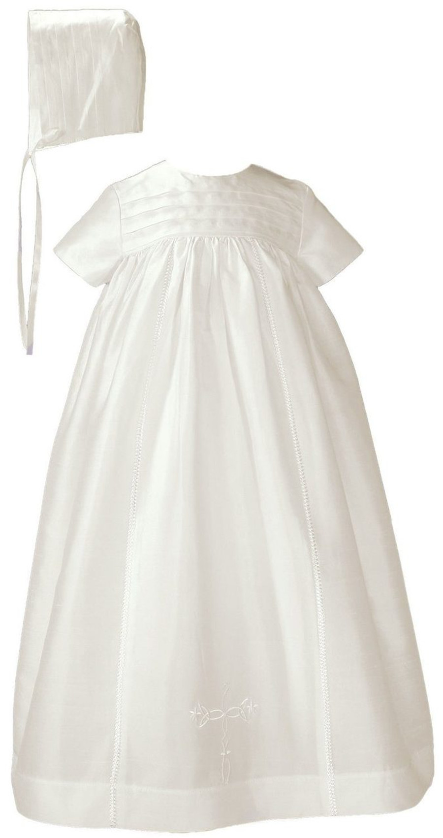 Beautiful 100% silk dupioni family special occasion christening gown.
