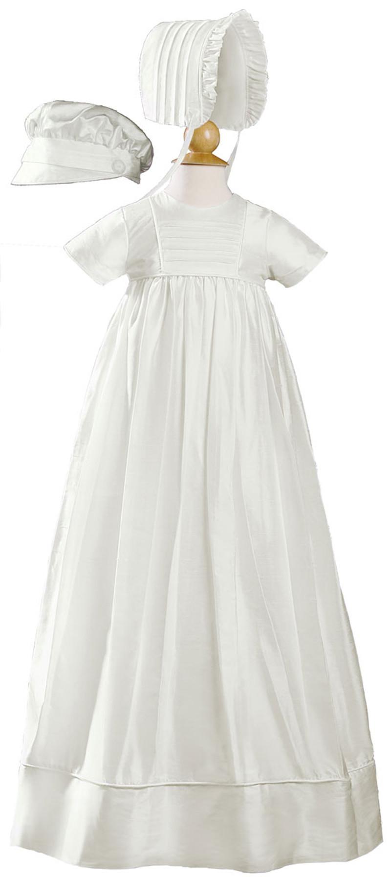 Silk Dupioni Christening-Baptism Heirloom Gown, Unisex