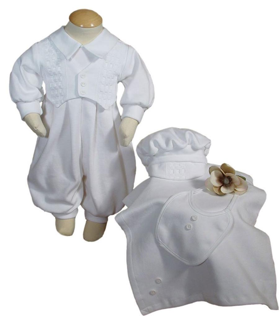 Beautiful long sleeve preemie christening/burial set with matching blanket, bib and bonnet.