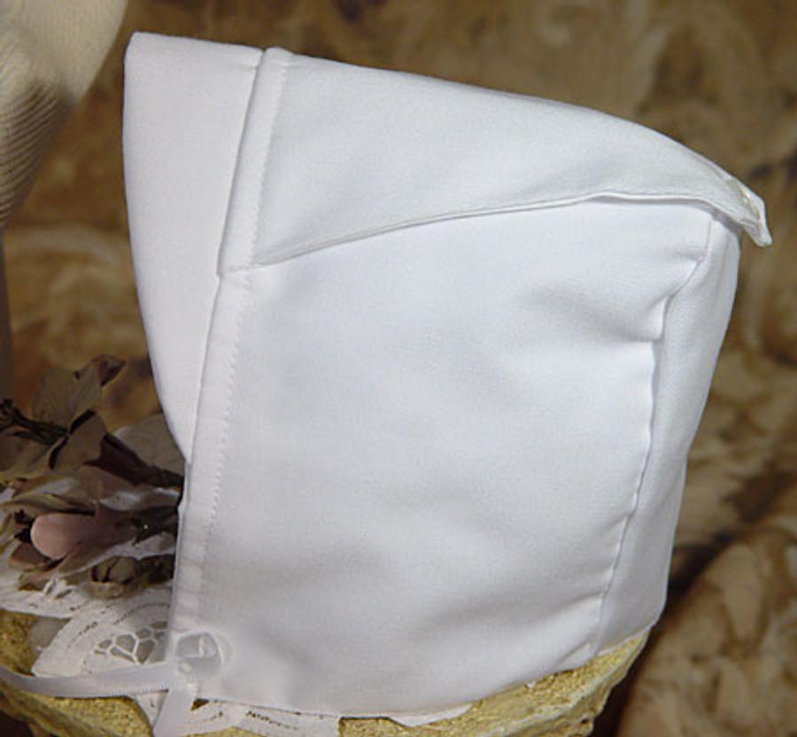 Boys White Gabardine Christening Baptism Knicker Set, Hat Only