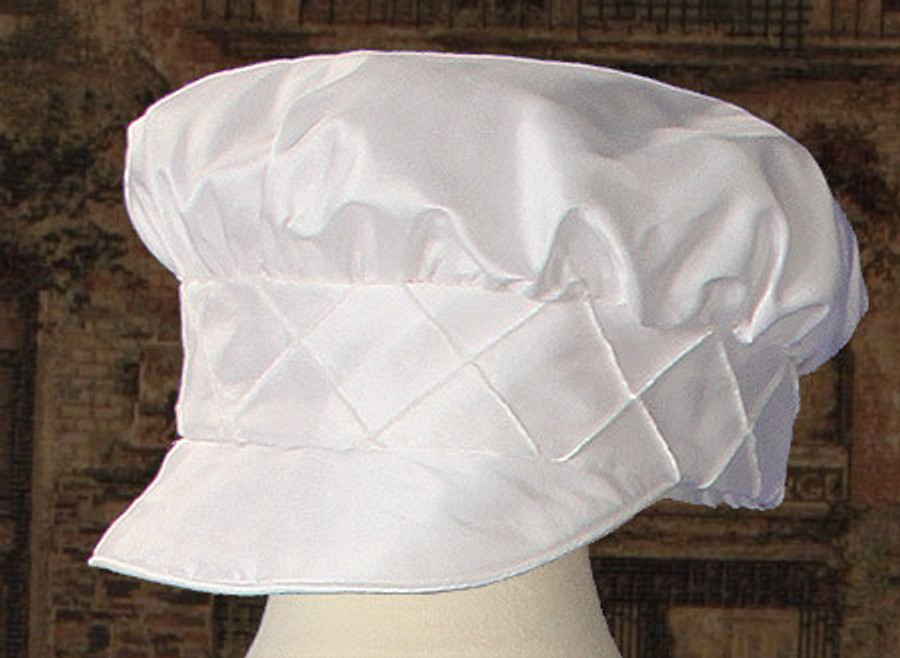Boys Silk Dupioni Christening Outfit with Pin Tucking and Captains Hat