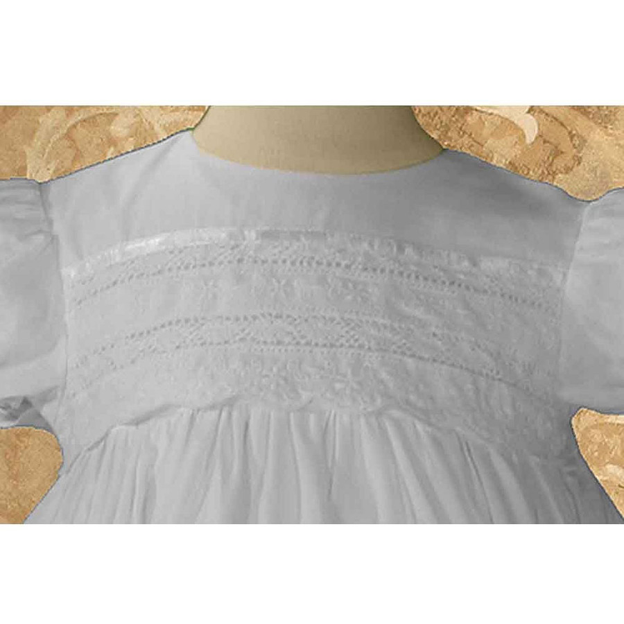 Girls Cotton Dress Christening Gown Baptism Gown with Venise Lace, Girls 26""