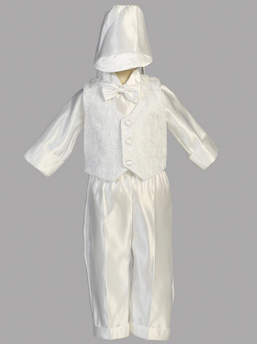 Boys Christening Embroidered Vest Outfit