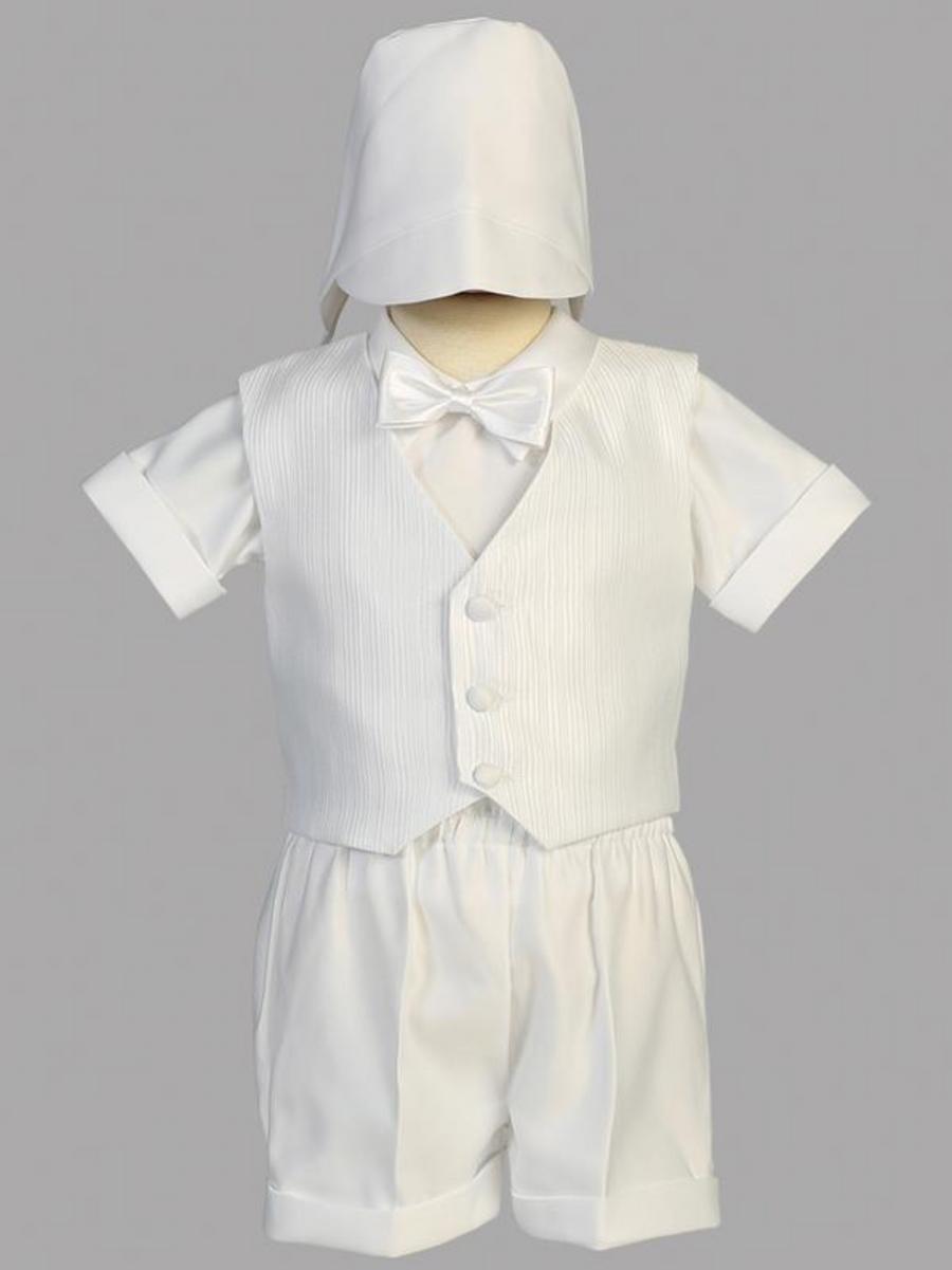 Boys Christening Satin Vest Shorts Outfit