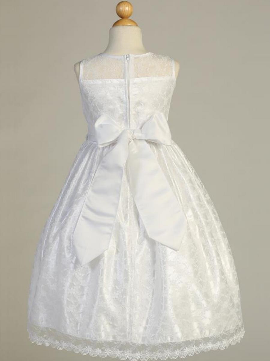 Girls White Lace Communion Dress (SP161)