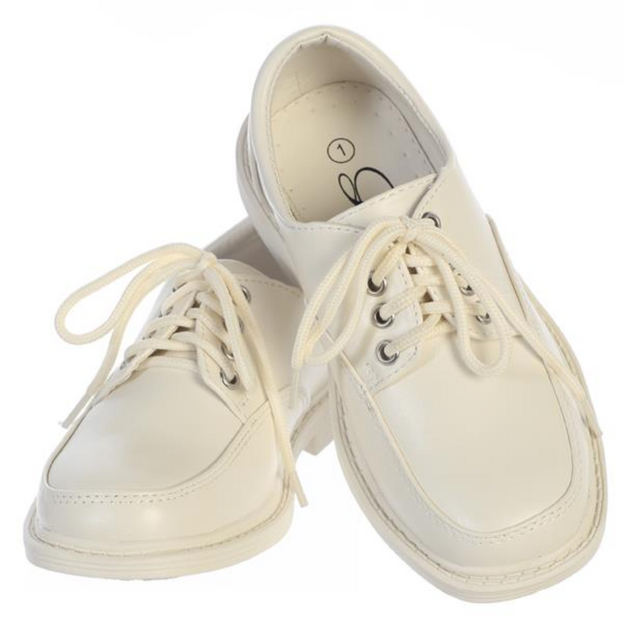 Boys Ivory Lace-up Formal Shoes (David-Ivory)