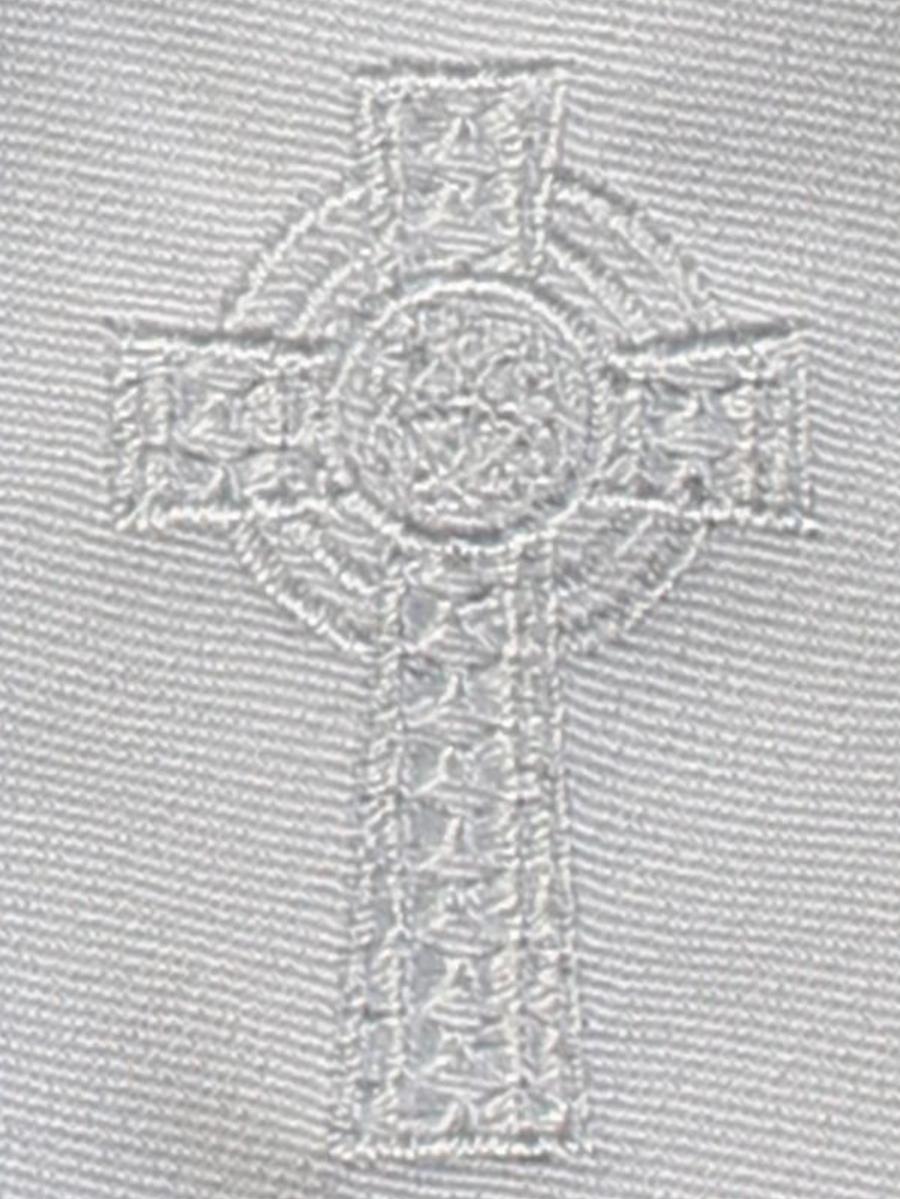 Boys-White-Zipper-Tie-Embroidered-Celtic-Cross-EM5