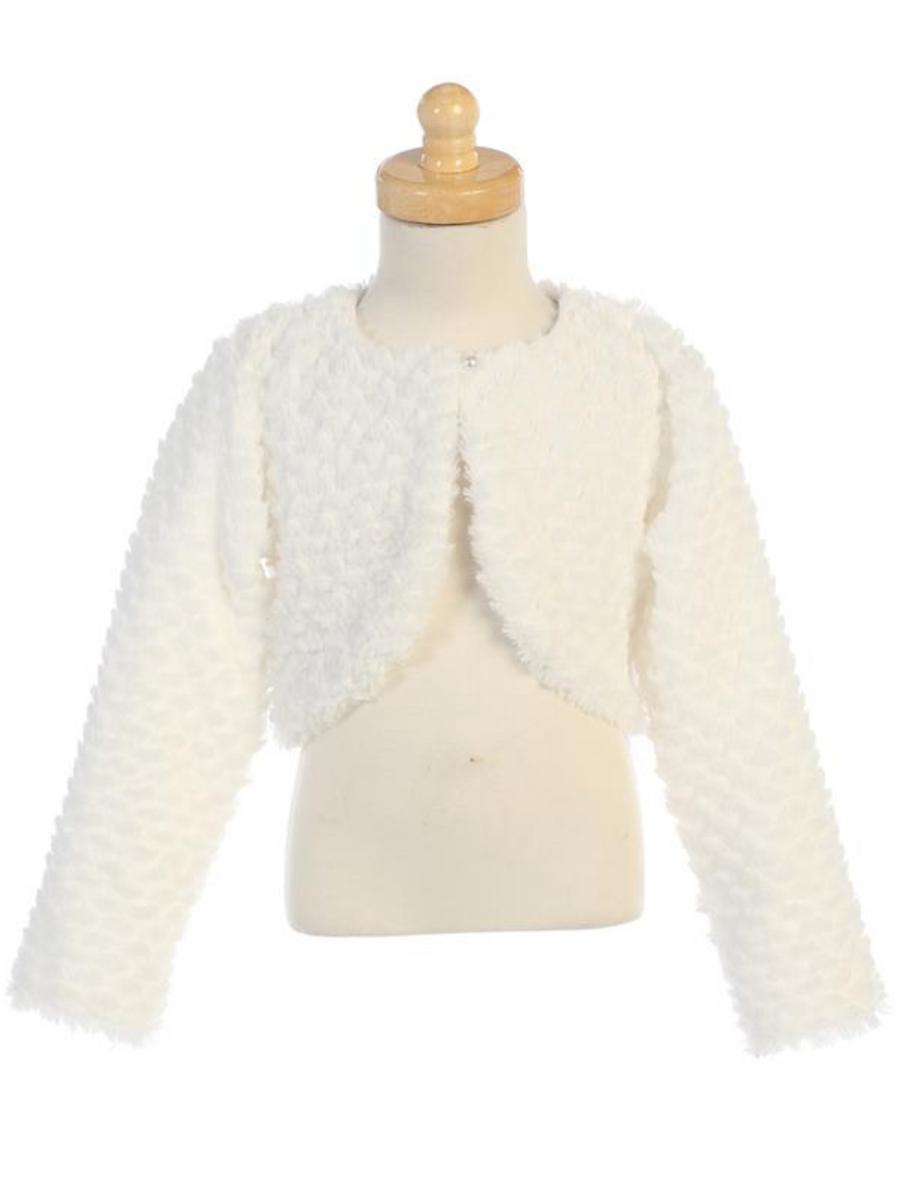 Faux-Fur-Bolero-(1109)-White