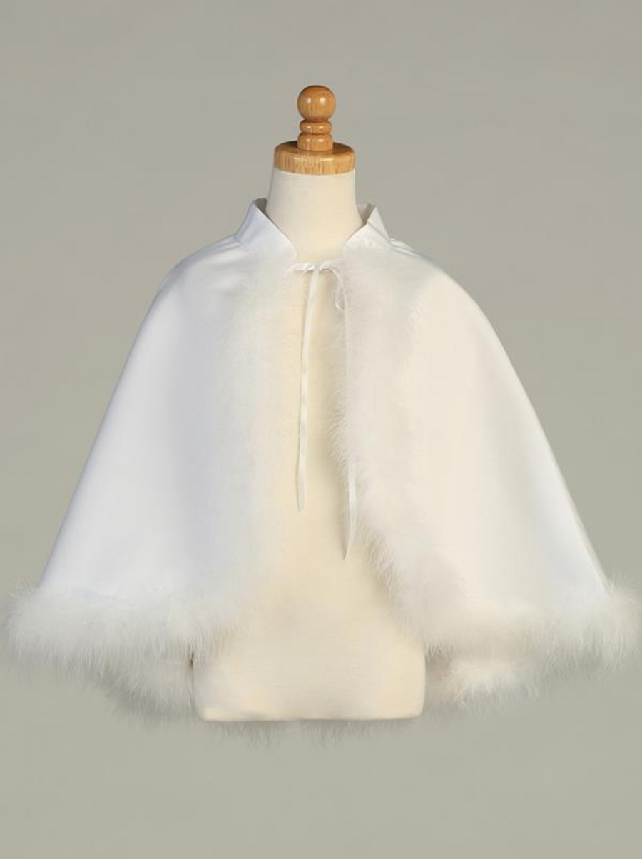 Satin Cape with Marabou (1033)