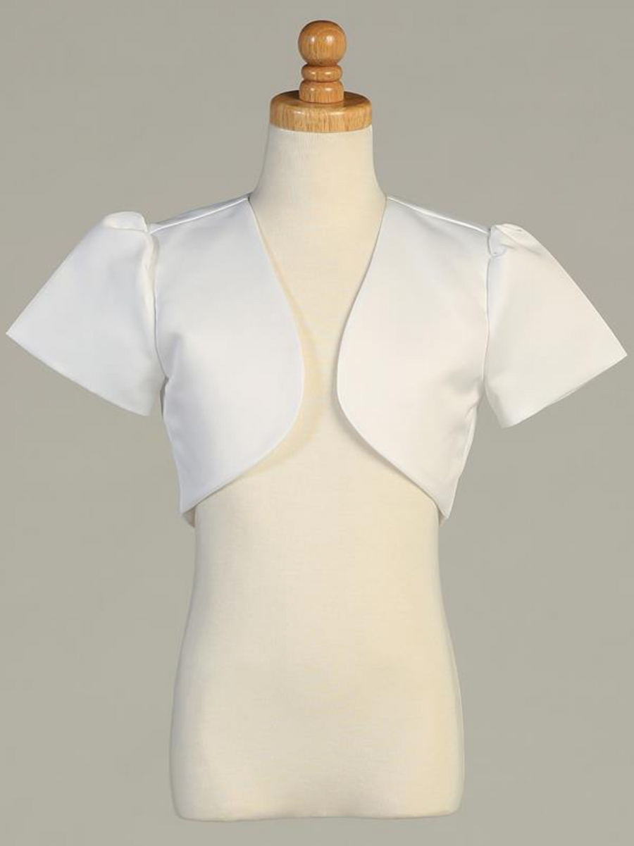 Short-Sleeve-Satin-Bolero-9303-White