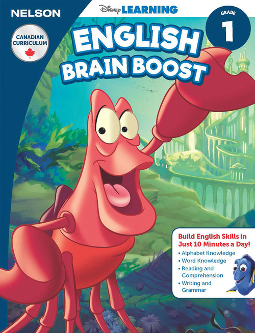 The Disney Learning Series - English Brain Boost Grade 1 Skills Workbook Front Cover