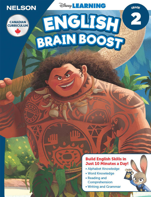 The Disney Learning Series - English Brain Boost Grade 2 Skills Workbook Front Cover