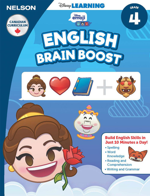 The Disney Learning Series - English Brain Boost Grade 4 Skills Workbook  Front Cover