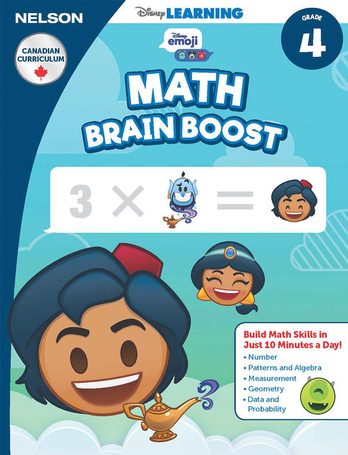 The Disney Learning Series - Math Brain Boost Grade 4 Skills Workbook Front Cover