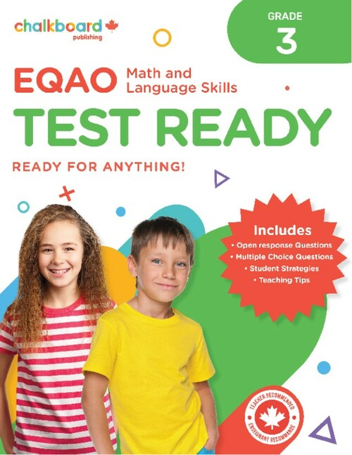 EQAO TEST READY MATH AND LANG 3 - WHITE COVER