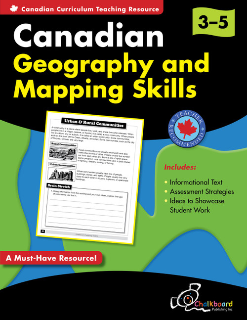 CANADIAN GEOGRAPHY AND MAPPING SKILLS GRADES 3-5
