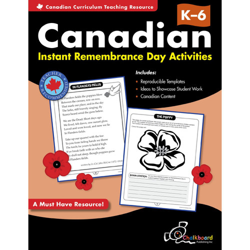 CANADIAN INSTANT REMEMBRANCE DAY ACTIVITIES GRADES K-6
