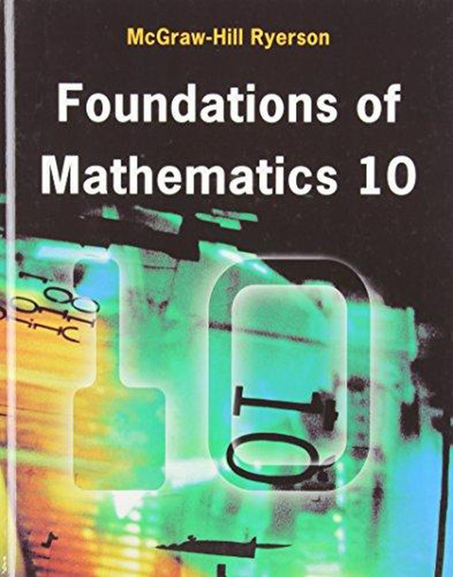 Foundations of Math 10 (McGraw Hill) - Student Ebook (12 Month Online Subscription)