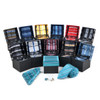 12pc Assorted Pack Boxed Striped Poly Woven Tie, Hanky & Cufflink Set PWFB5000