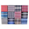 12pc Plaid Poly Woven Tie, Hanky & Cufflink Set PWFB6000