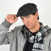 Fall/Winter Black & Charcoal Speckled Textured Ivy Hat - H1805265