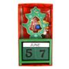 Christmas Tree Shape Wooden Calendar - XHDC5191