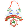 Merry Christmas Glittery Hanging Wall Décor  - XHW5143