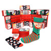 24-Boxes (72pairs) Assorted Men's Christmas Socks Red Gift Box Set (3 pairs per box) - MFS2000