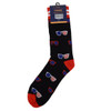Men's American Flag Sunglasses Novelty Socks - NVS19333