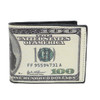 Bi-Fold $100 Dollars Bill Printed Leather Men's Wallet - MLW5201