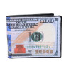 Bi-Fold $100 Dollars Bill Printed Leather Men's Wallet - MLW5202