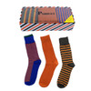 72pairs (24 Boxes) Assorted Mens Dress Socks Striped Gift Box Set (3 pairs per box) - MFS2000