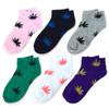 Assorted (6 pairs/pack) Women's Low Cut Marijuana Socks - LN6F1641-NT