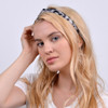 12pc Assorted Ladies Criss Cross Animal Print Headbands - 12EHB1005-AP