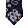 Geometric Circle Microfiber Poly Woven Tie & Hanky Set - MPWTH1804-5-6