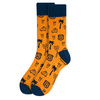 Men's Route 66 Novelty Fun Socks - NVS19403-OR