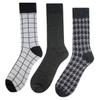 Assorted Pack (3 Pairs) Men's Casual Fancy Crew Socks 3PKS-DRSY12